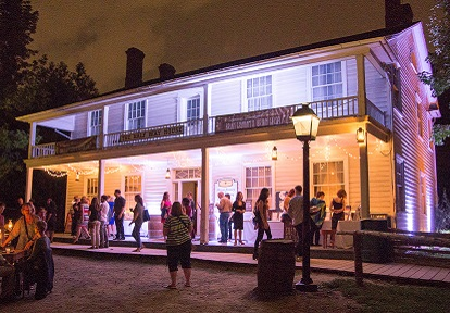 visitors enjoy the Light Up the Night Event at the Half Way House
