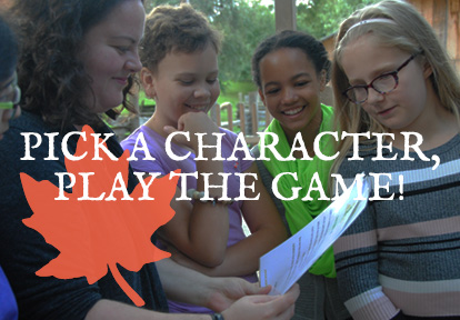 students and teacher play Class of 67 game at Black Creek Pioneer Village