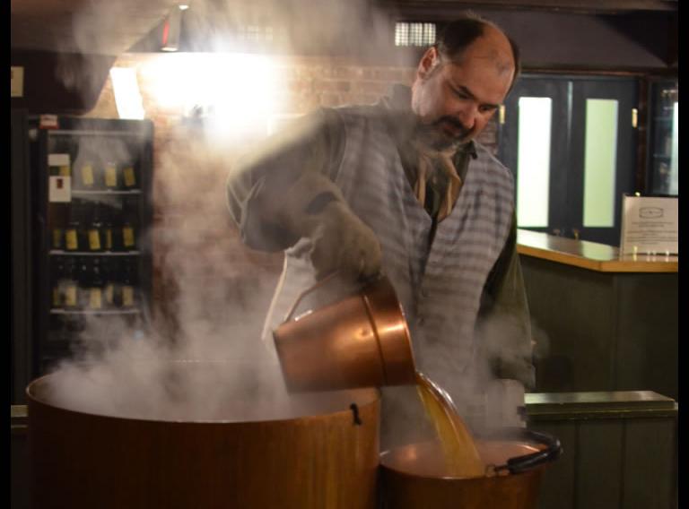 brewmaster Ed Koren working at Black Creek Historic Brewery