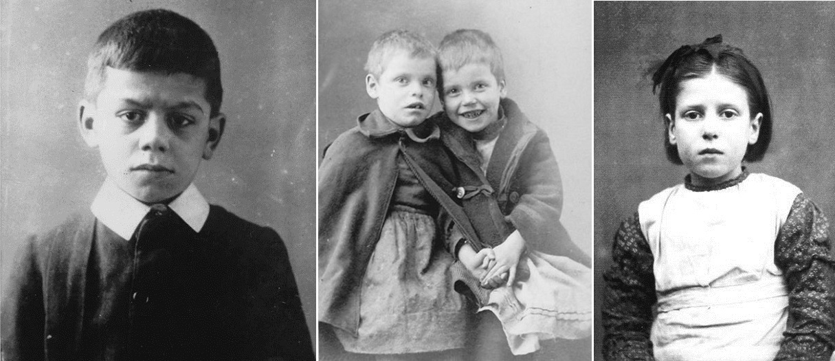 photographs of British Home Children from the Black Creek Pioneer Village exhibit