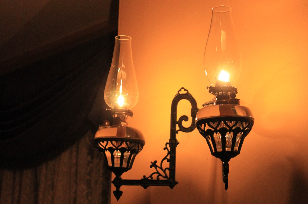 kerosene lamps are lit during the Black Creek Pioneer Village Chirstmas by Lamplight event