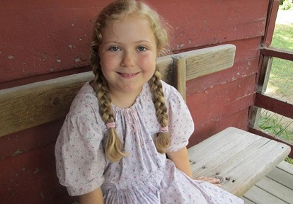 girl takes part in junior day camp at Black Creek Pioneer Village