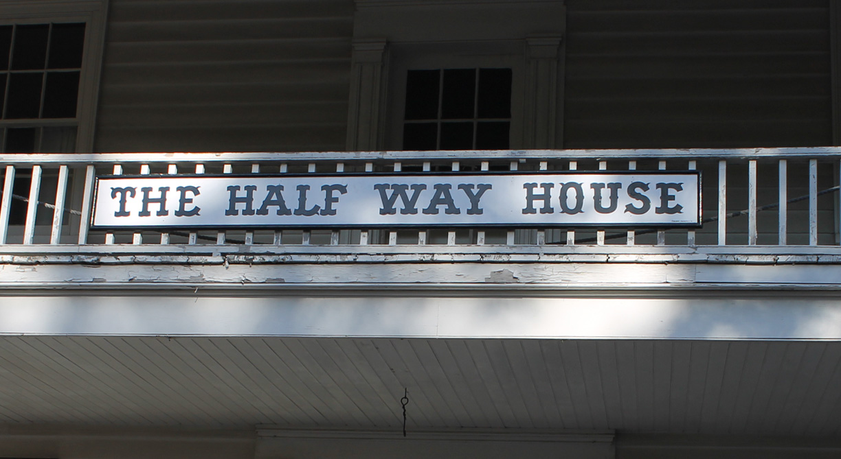 Sign of the Half Way House Inn at Black Creek Pioneer Village