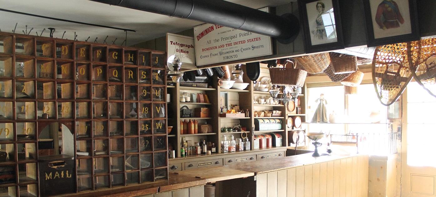 interior of Laskay Emporium at Black Creek Pioneer Village