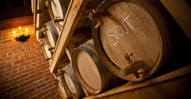 casks at Black Creek Historic Brewery