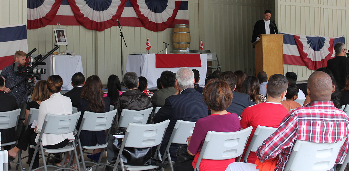 citizenship ceremony for new Canadians at Black Creek Pioneer Village