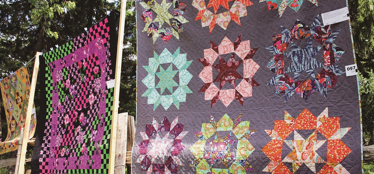 Quilts on display at Black Creek Pioneer Village