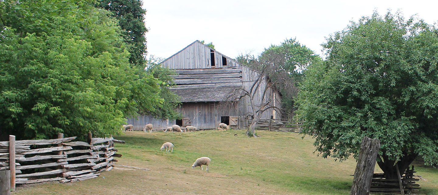 Daniel Stong grain barn at Black Creek Pioneer Village