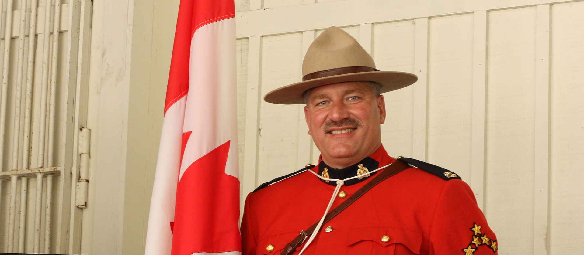 Mountie in uniform at Black Creek Canada Day event