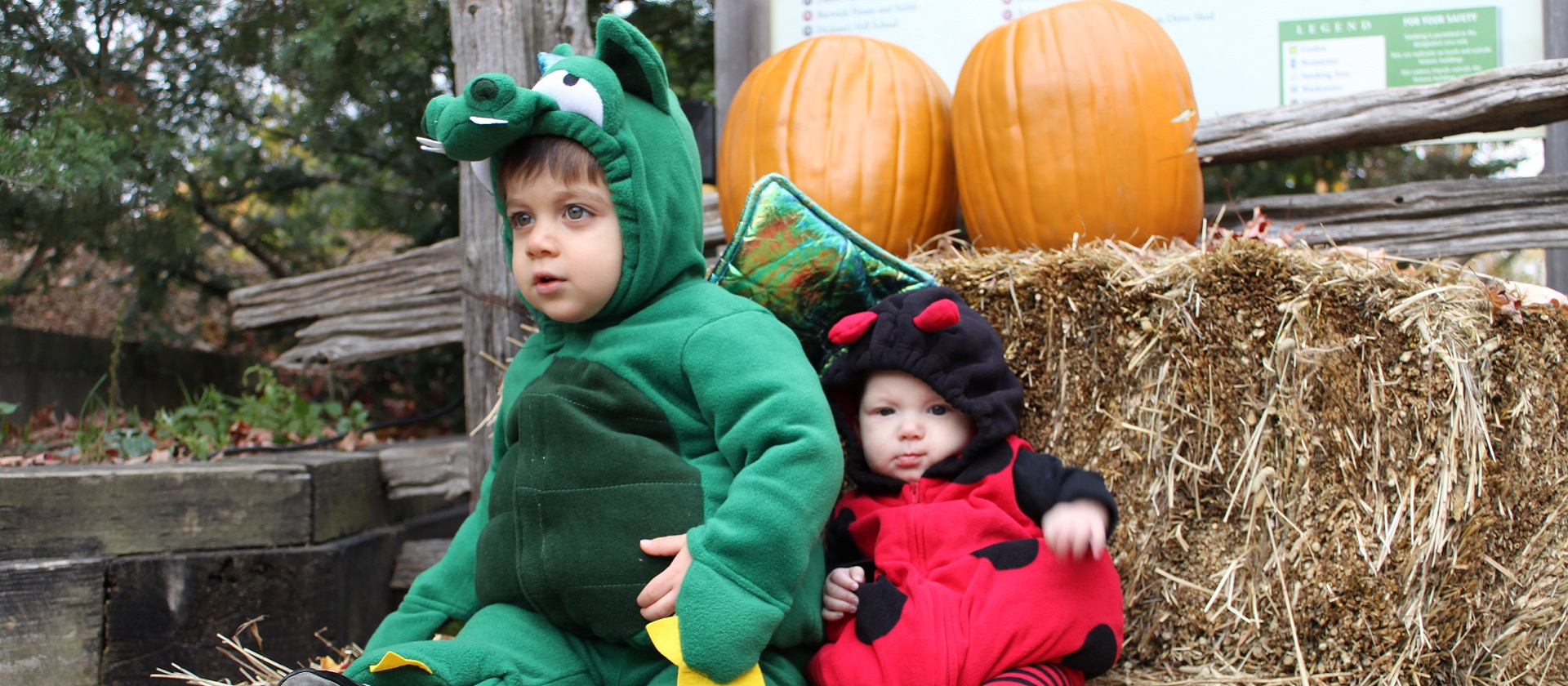 young children in Halloween costumes at Black Creek Howling Hootenanny event