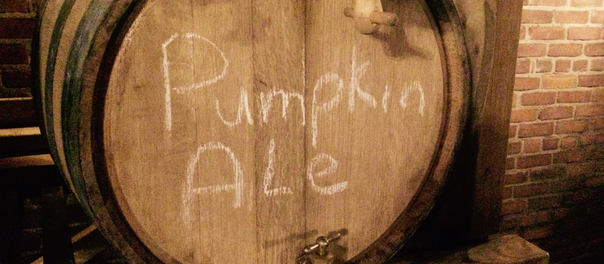 cask of fermenting Harvest Pumpkin Ale