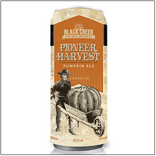 can of Black Creek Harvest Pumpkin Ale