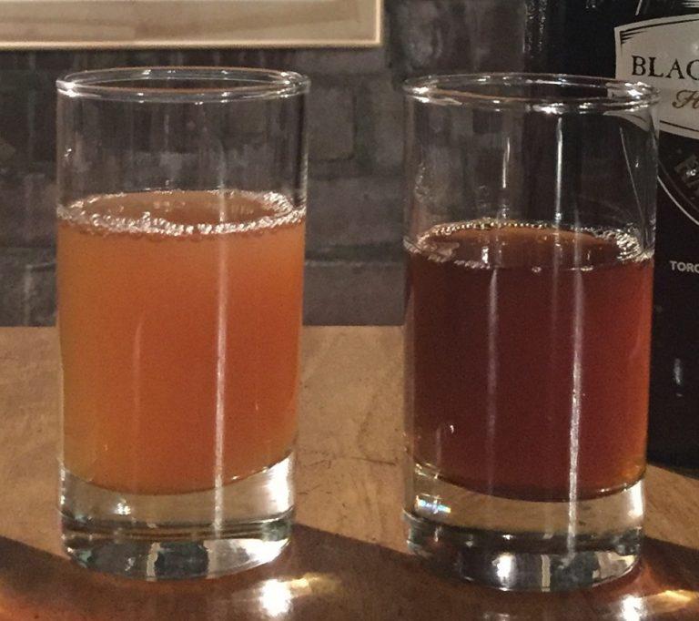 growler and beer samples at Black Creek Brewery