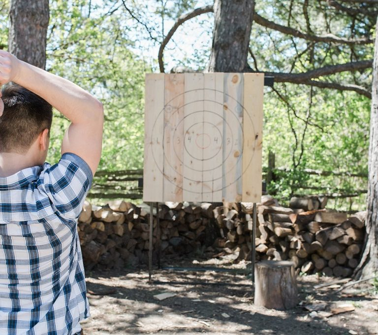 axe throwing at Black Creek Pioneer Village