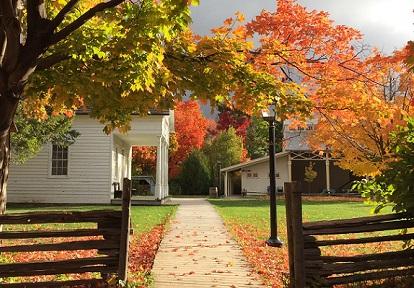 autumm leaves at Black Creek Pioneer Village
